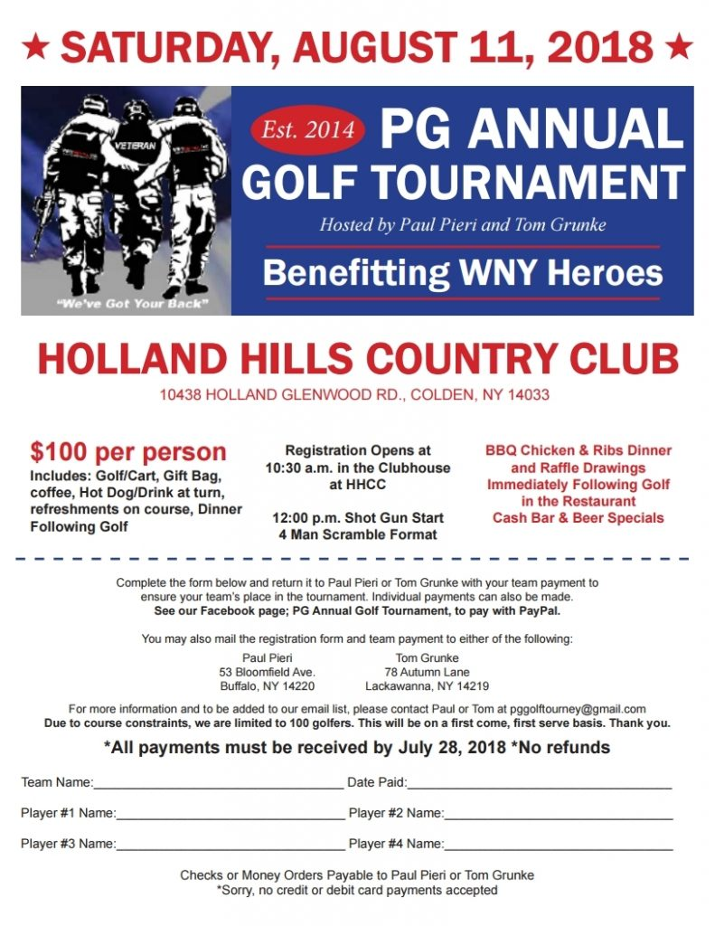 PG Annual Golf Tournament - WNY Heroes