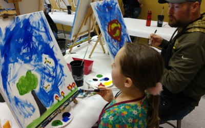 B.O.O.T.S. Invades Painting with a Twist!