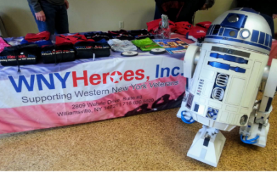 R2D2 Makes Friends with WNYHeroes at Buffalo Maker Faire